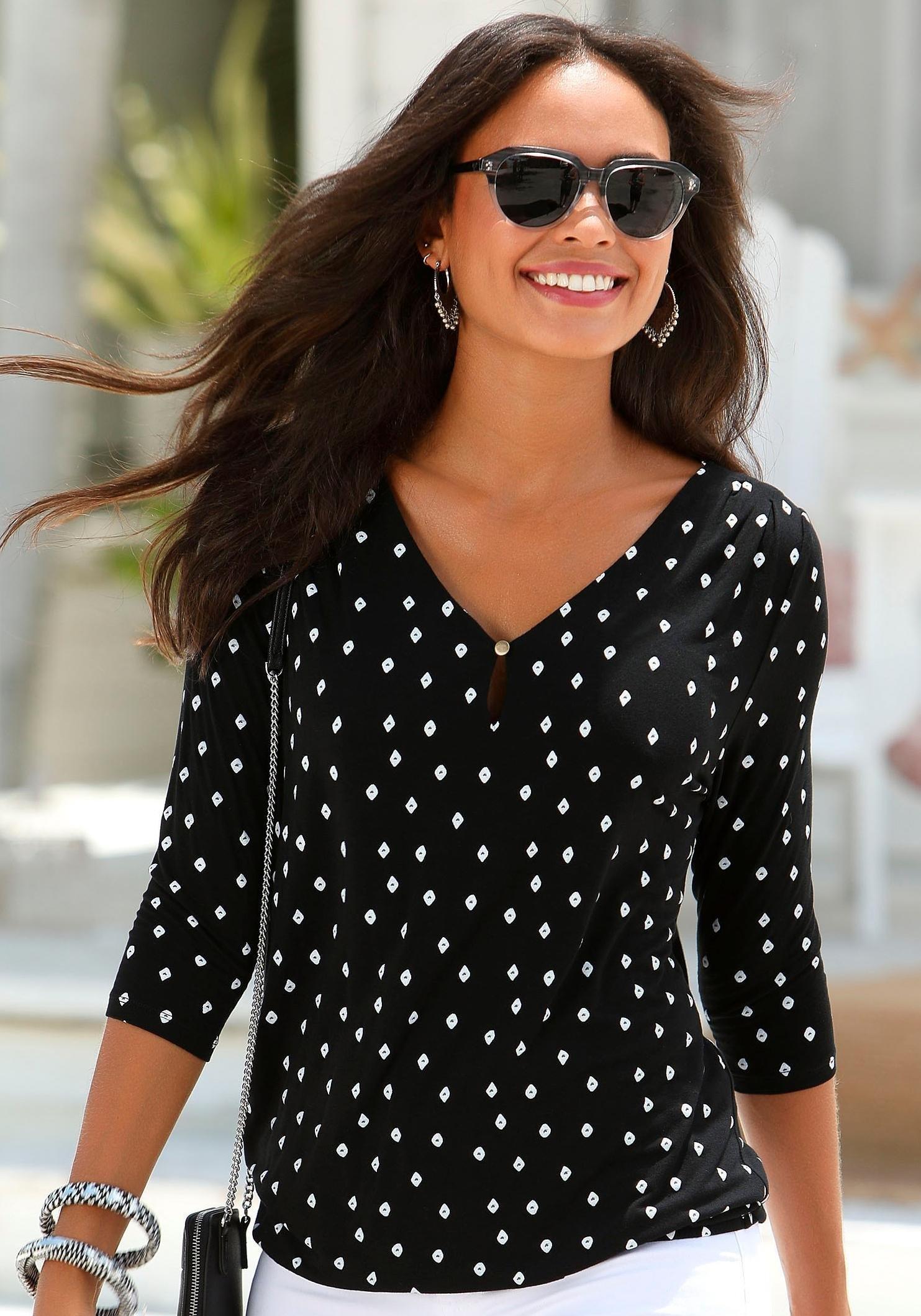 LASCANA shirt met 3/4-mouwen voordelig en veilig online kopen