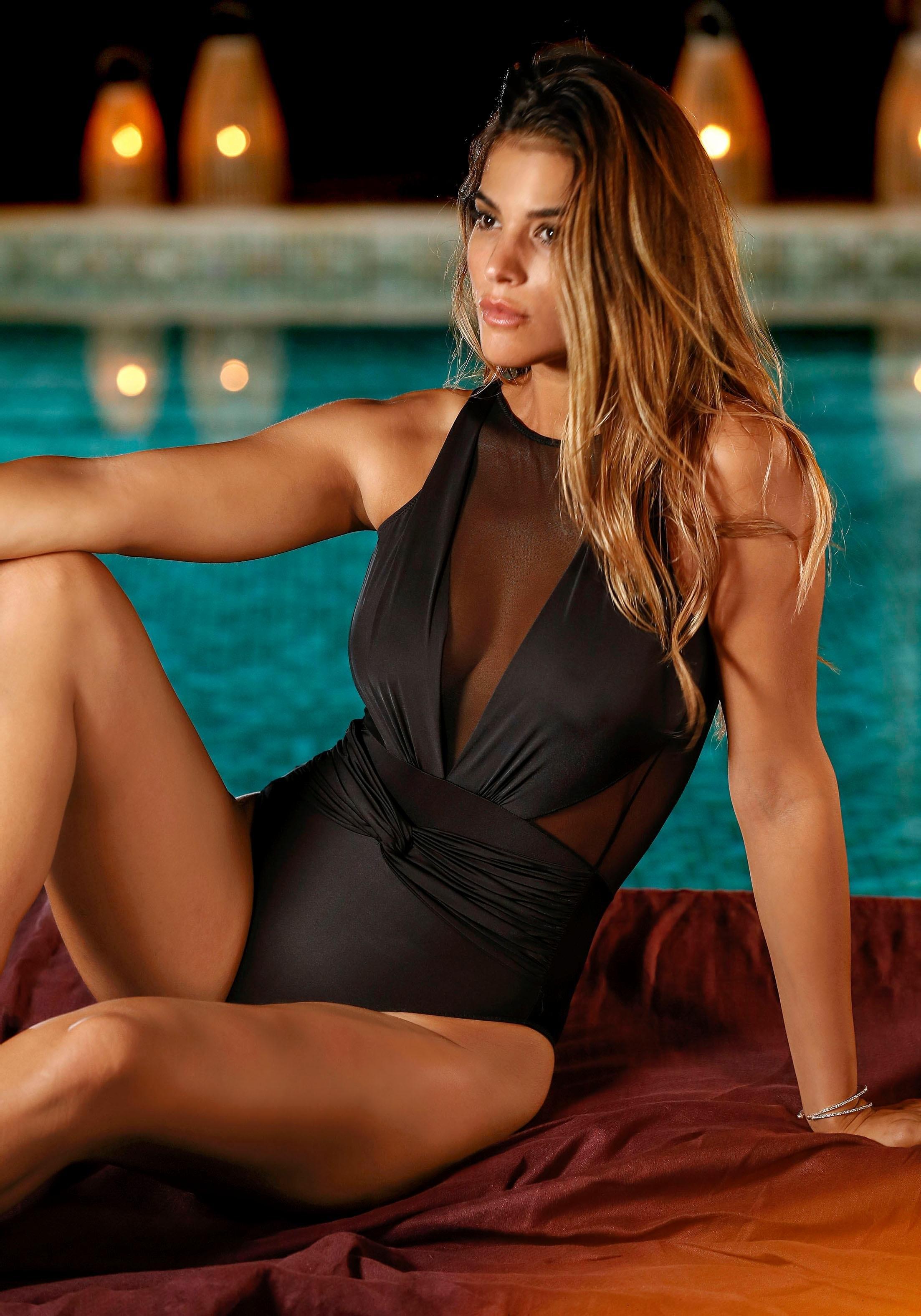 Lascana body voor in wikkel-look en iets gerimpeld bij Lascana online kopen