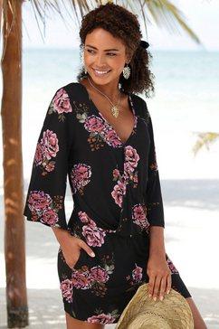 s.oliver red label beachwear jumpsuit zwart