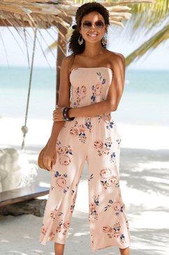 s.oliver beachwear strand-jumpsuit beige