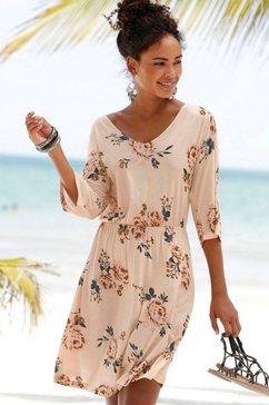 s.oliver red label beachwear strandjurk beige