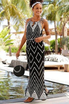 lascana maxi-jurk. zwart
