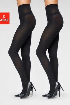 vivance panty 90 denier (set van 2) zwart