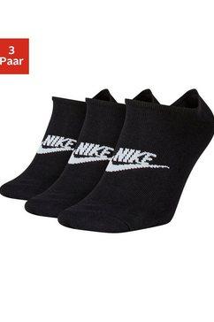 nike sneakersokken met logo op de middenvoet (3 paar) zwart