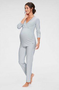 lascana zwangerschapspyjama grau