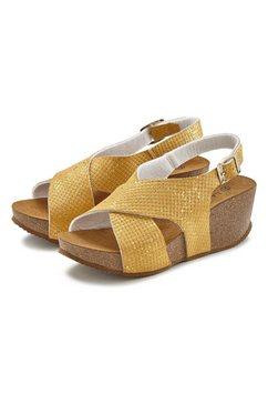 lascana sandaaltjes geel
