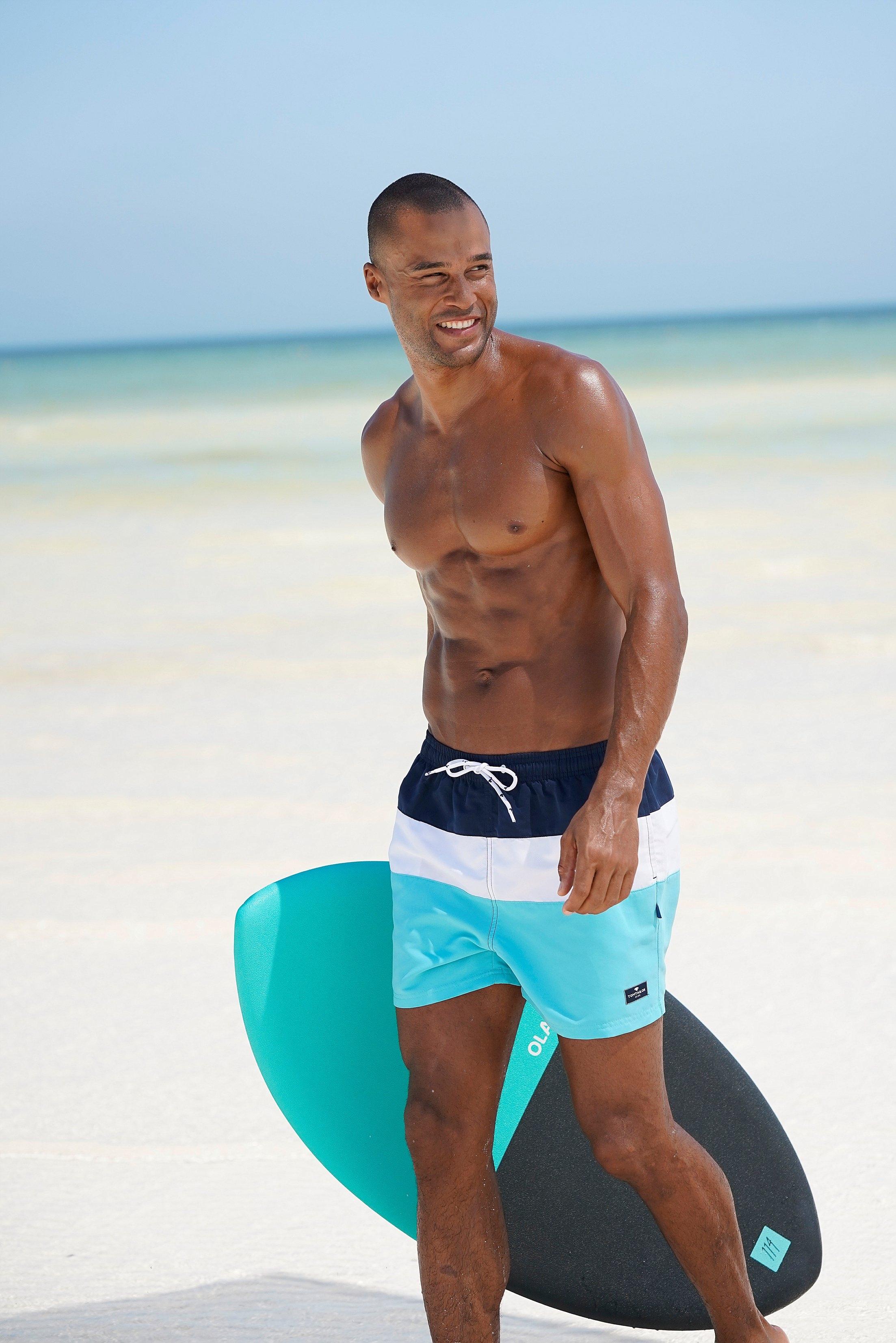 Op zoek naar een Tom Tailor zwemshort met blokstrepen? Koop online bij Lascana