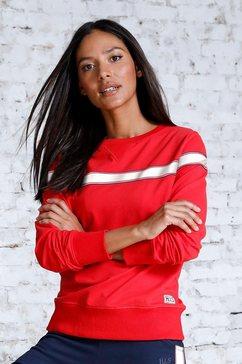 h.i.s sweatshirt met gestreepte tape rood