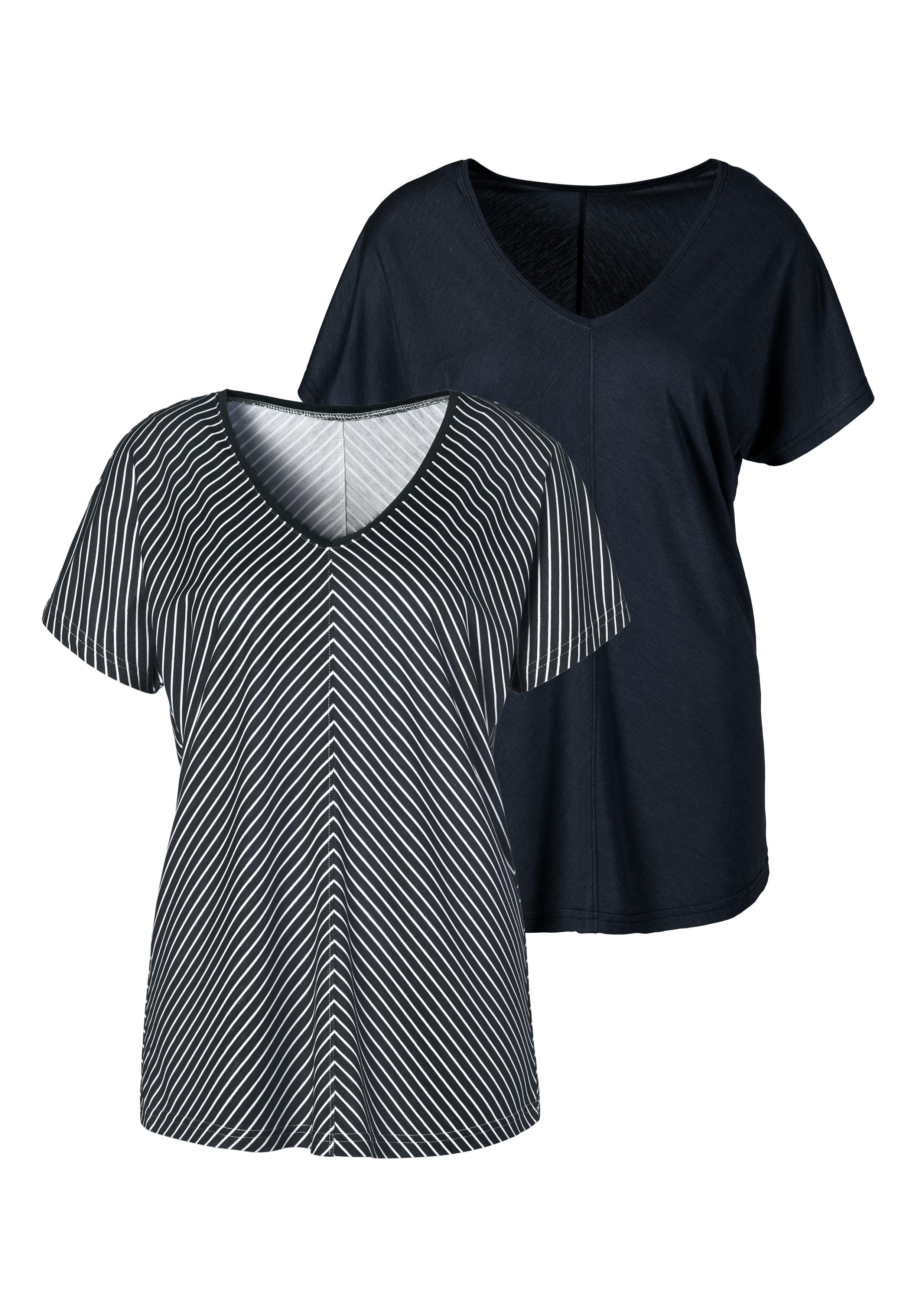 Lascana T-shirt met bijzonder streepdessin nu online bestellen