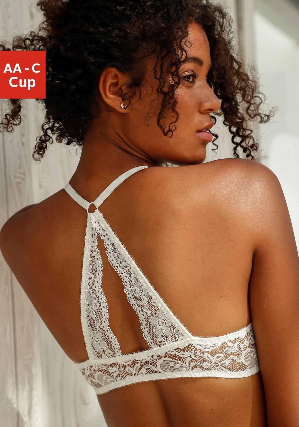 Nuance Bh met halterbandjes met kanten achterkant en voorsluiting in de webshop van Lascana kopen