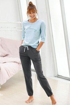 vivance dreams pyjama met streepdessin met 3-4-mouwen blauw