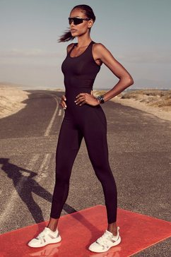 lascana active jumpsuit »moody alligator« zwart
