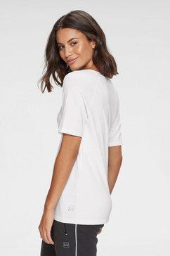 active by lascana t-shirt met een ronde hals wit