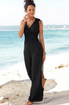 lascana jumpsuit gedessineerd of uni zwart