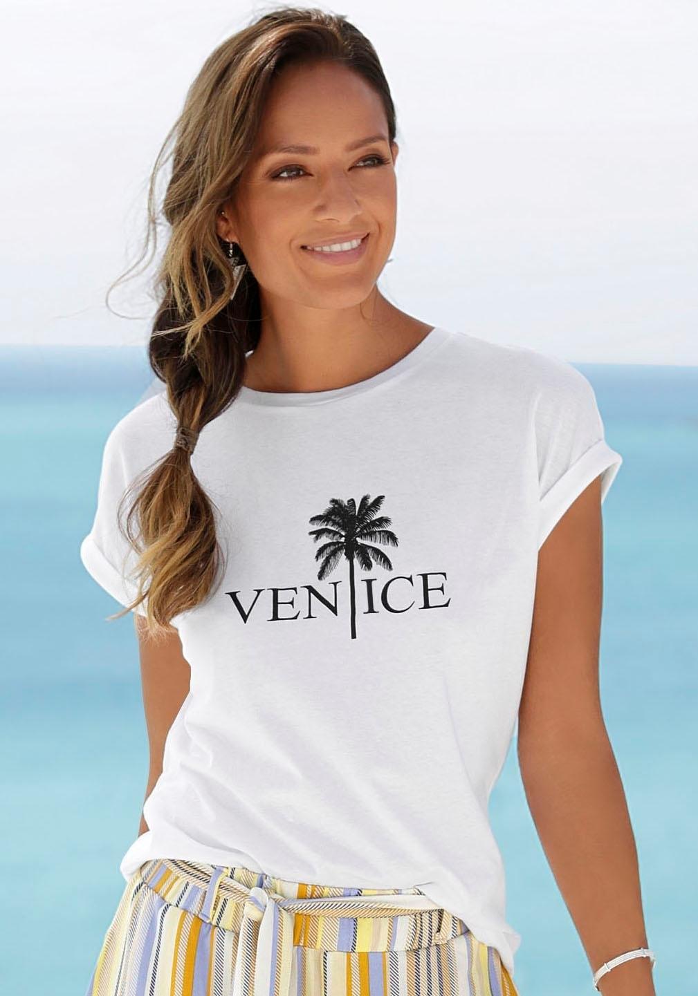 Venice Beach shirt met ronde hals met frontprint goedkoop op lascana.nl kopen