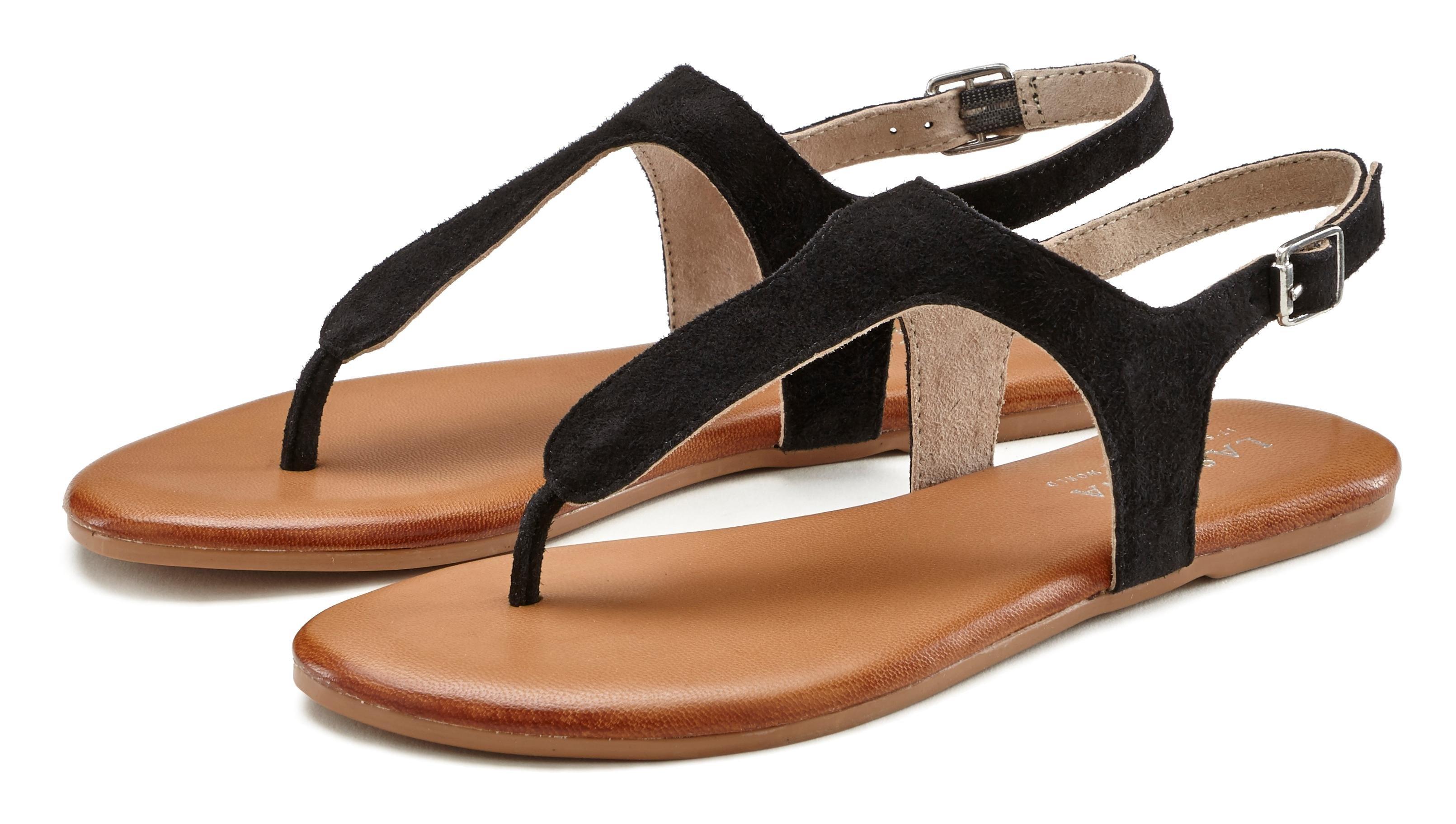 Lascana sandalen van zacht leer bestellen: 30 dagen bedenktijd