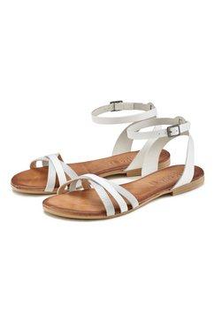 lascana sandalen van zacht leer wit