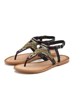 lascana sandalen met luxueuze garnering zwart