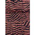 lascana maxi-jurk met zebraprint zwart