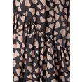 lascana blousejurkje met hartjesprint zwart