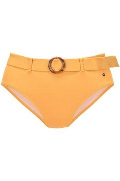s.oliver red label beachwear highwaist-bikinibroekje rome met een afneembare riem geel