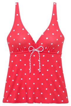 s.oliver beachwear tankinitop met beugels »audrey« rood