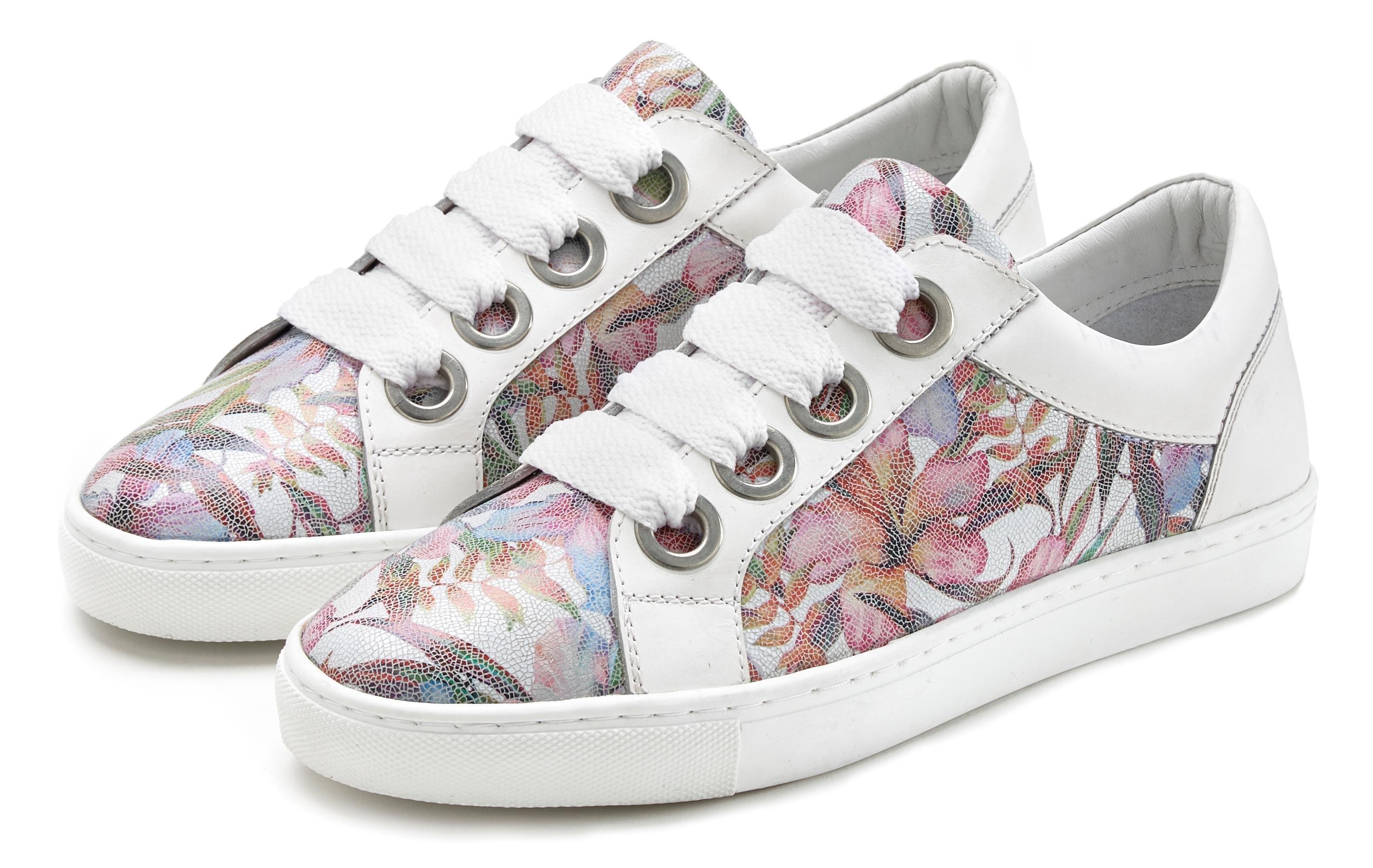 Lascana Sneakers van leer met bloemenprint bestellen: 30 dagen bedenktijd
