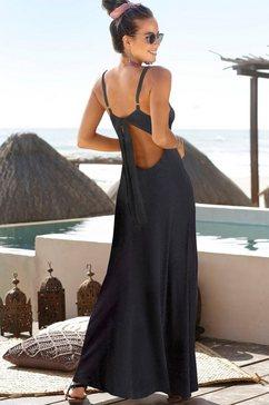 s.oliver beachwear maxi-jurk zwart