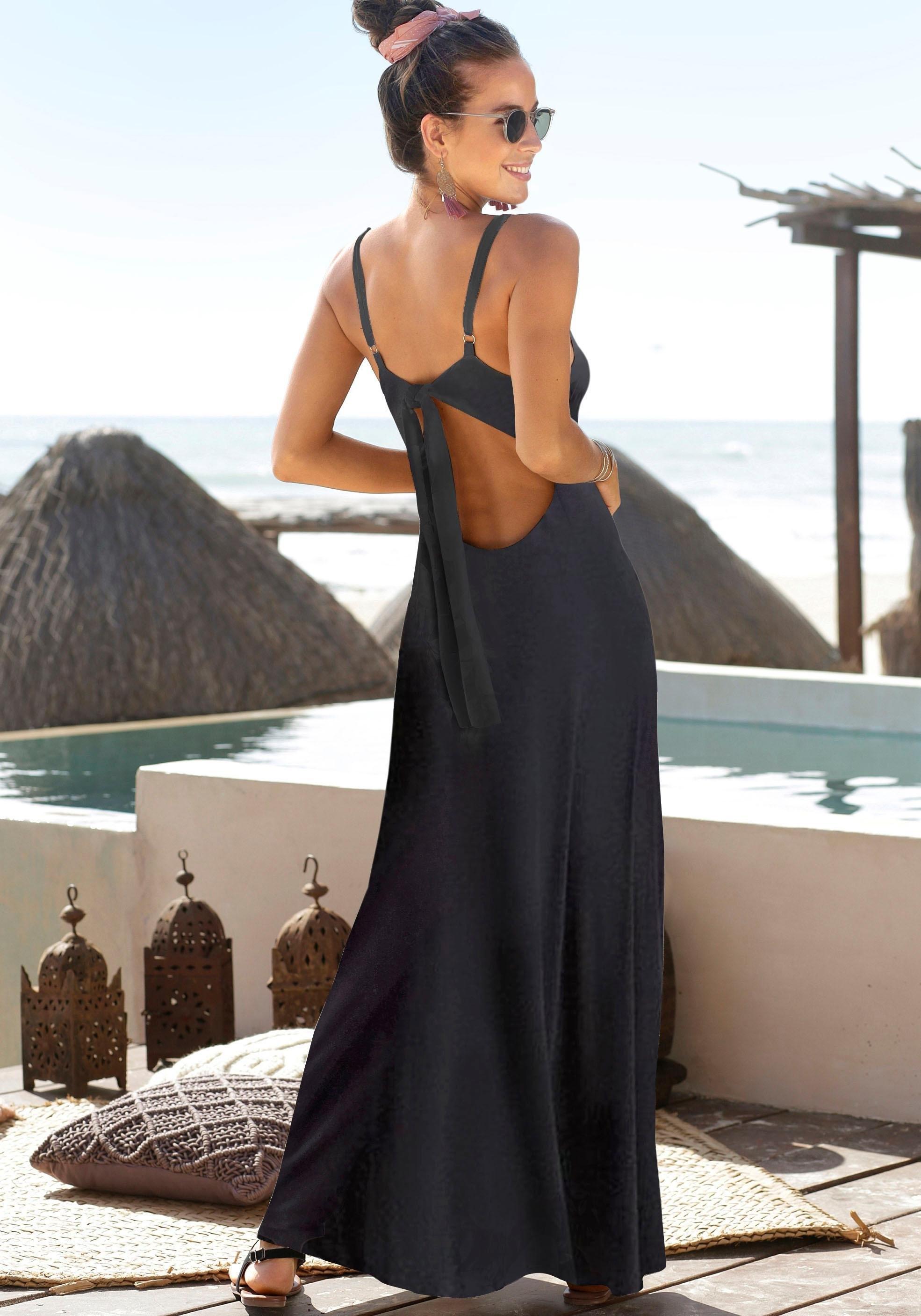 s.Oliver Beachwear maxi-jurk goedkoop op lascana.nl kopen