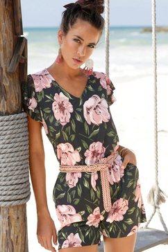 s.oliver beachwear korte jumpsuit multicolor