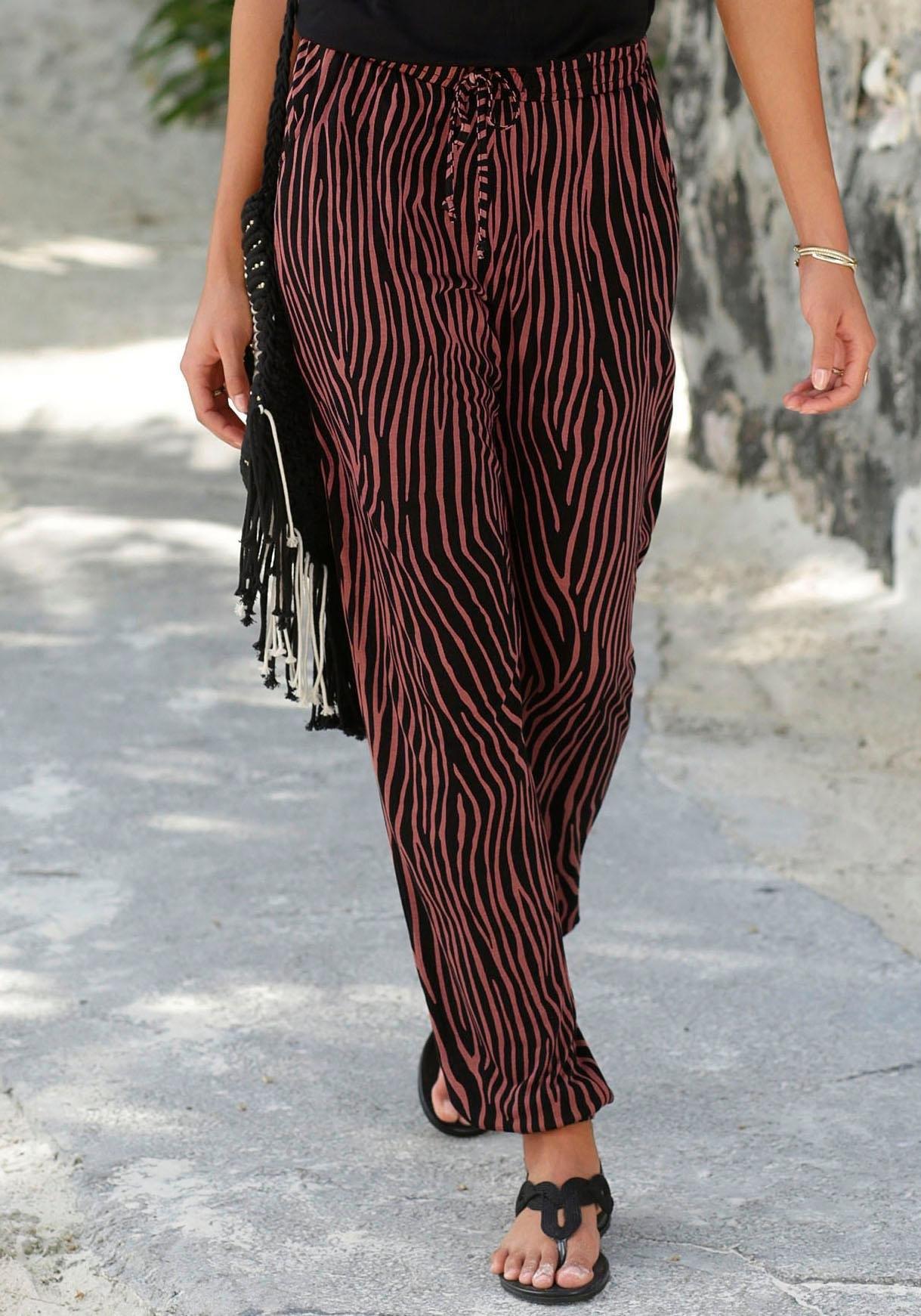 Lascana strandbroek met zebraprint voordelig en veilig online kopen