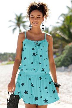 beachtime zomerjurk blauw