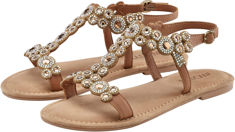 Lascana sandalen met stijlvolle siersteentjes veilig op lascana.nl kopen