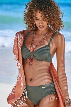 lascana bikinitop met beugels italy opzij aan te rimpelen groen