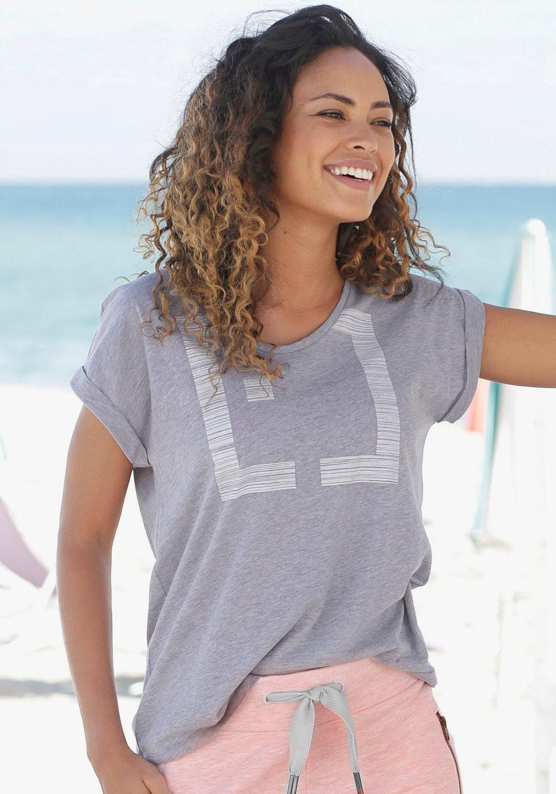 Elbsand Shirt met ronde hals Leikna goedkoop op lascana.nl kopen