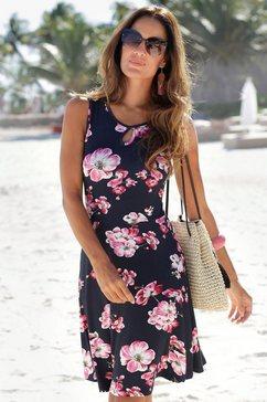 beachtime gedessineerde jurk blauw