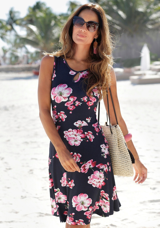 beachtime gedessineerde jurk online kopen op lascana.nl