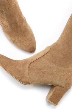 lascana overknee-laarzen beige