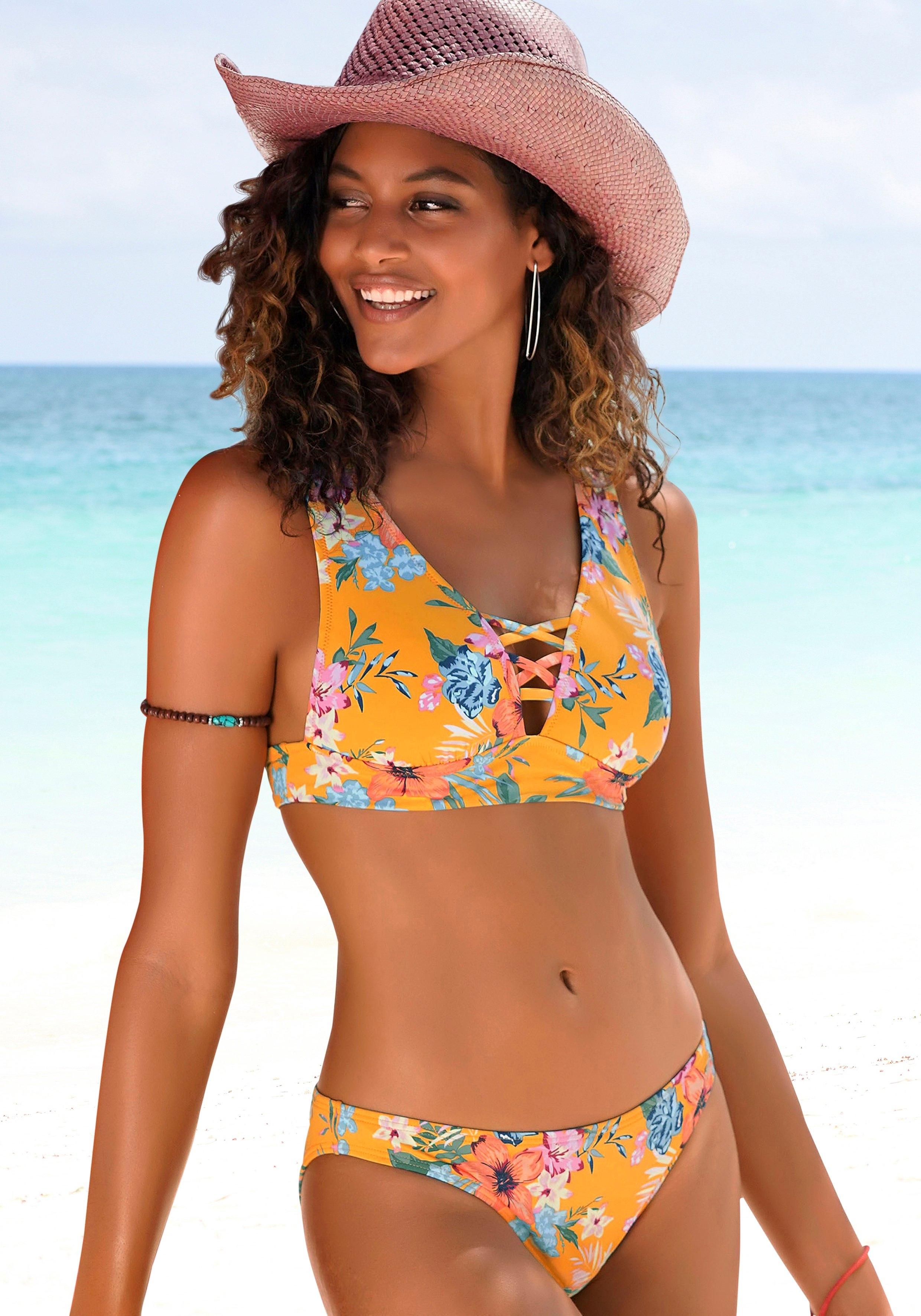 Bench. triangel-bikinitop Maui met siersluiting bij de hals bestellen: 30 dagen bedenktijd