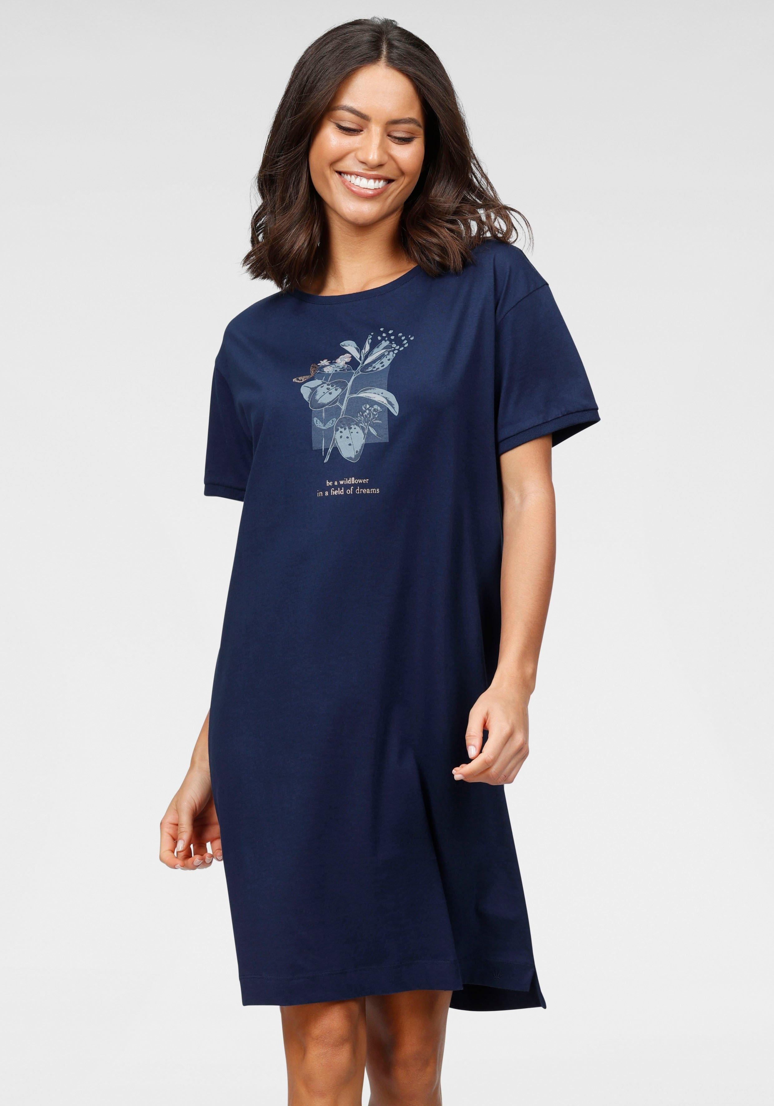 Triumph nachthemd met gebloemde frontprint - gratis ruilen op lascana.nl