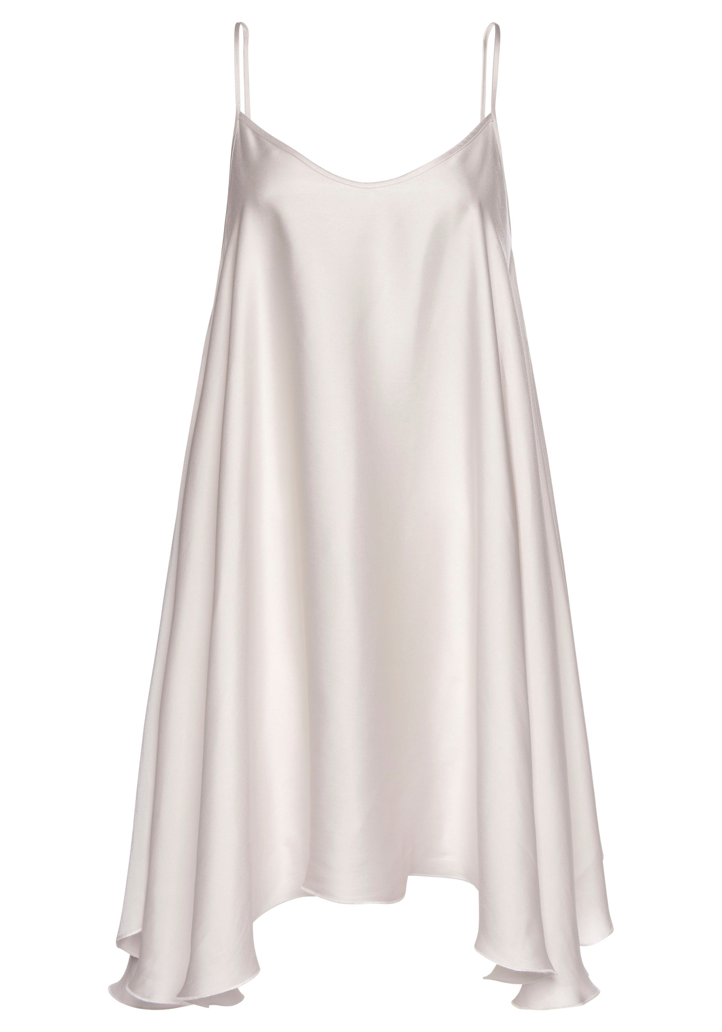 Lascana satijnen jurk met een asymmetrische zoom online kopen op lascana.nl