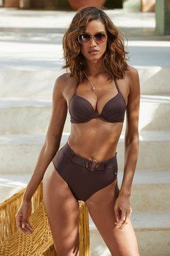 s.oliver beachwear highwaist-bikinibroekje »rome« bruin