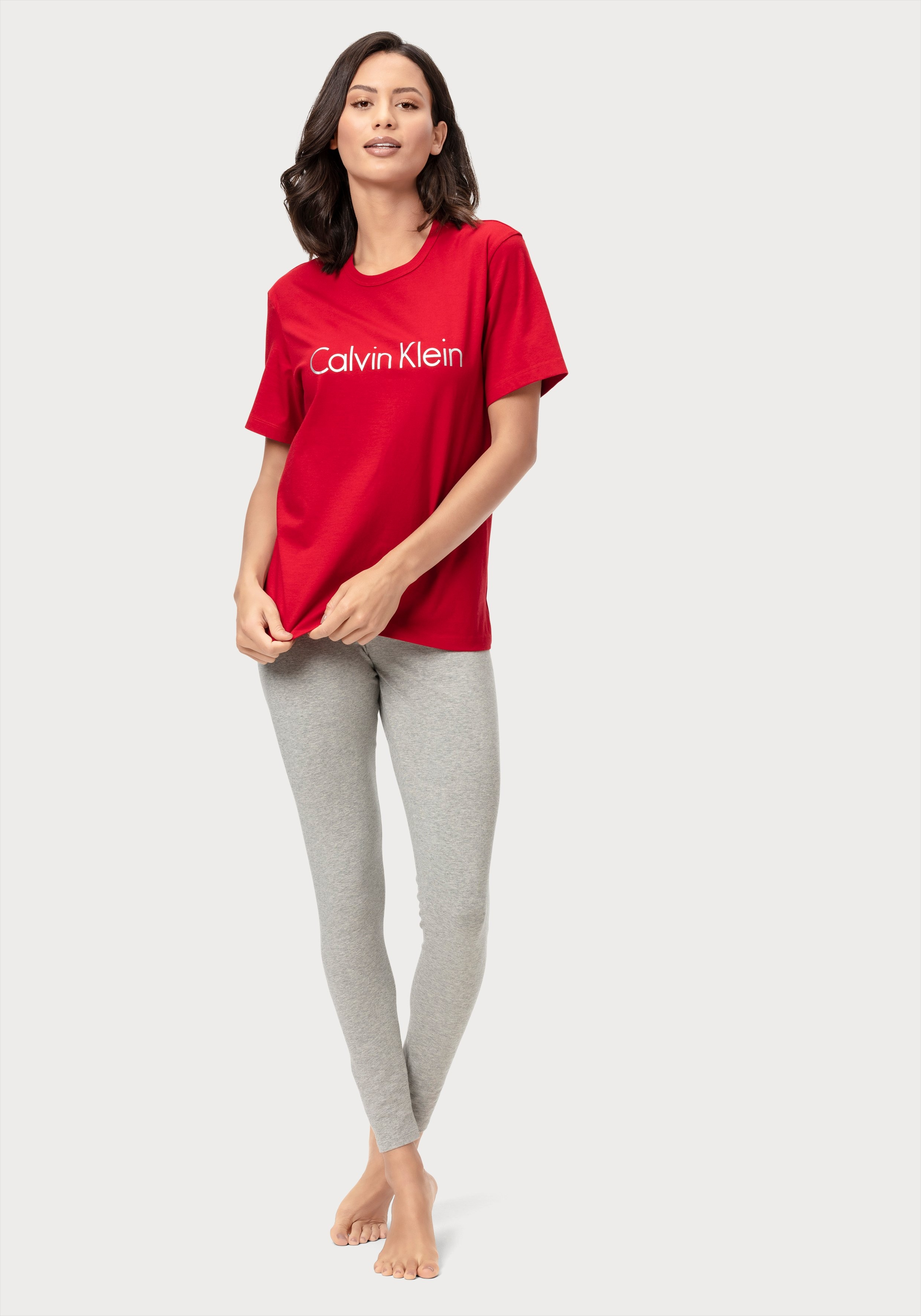 Calvin Klein Legging met opgestikte zak en ingeweven logo in de band voordelig en veilig online kopen
