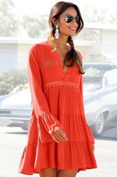 lascana lange blouse rood