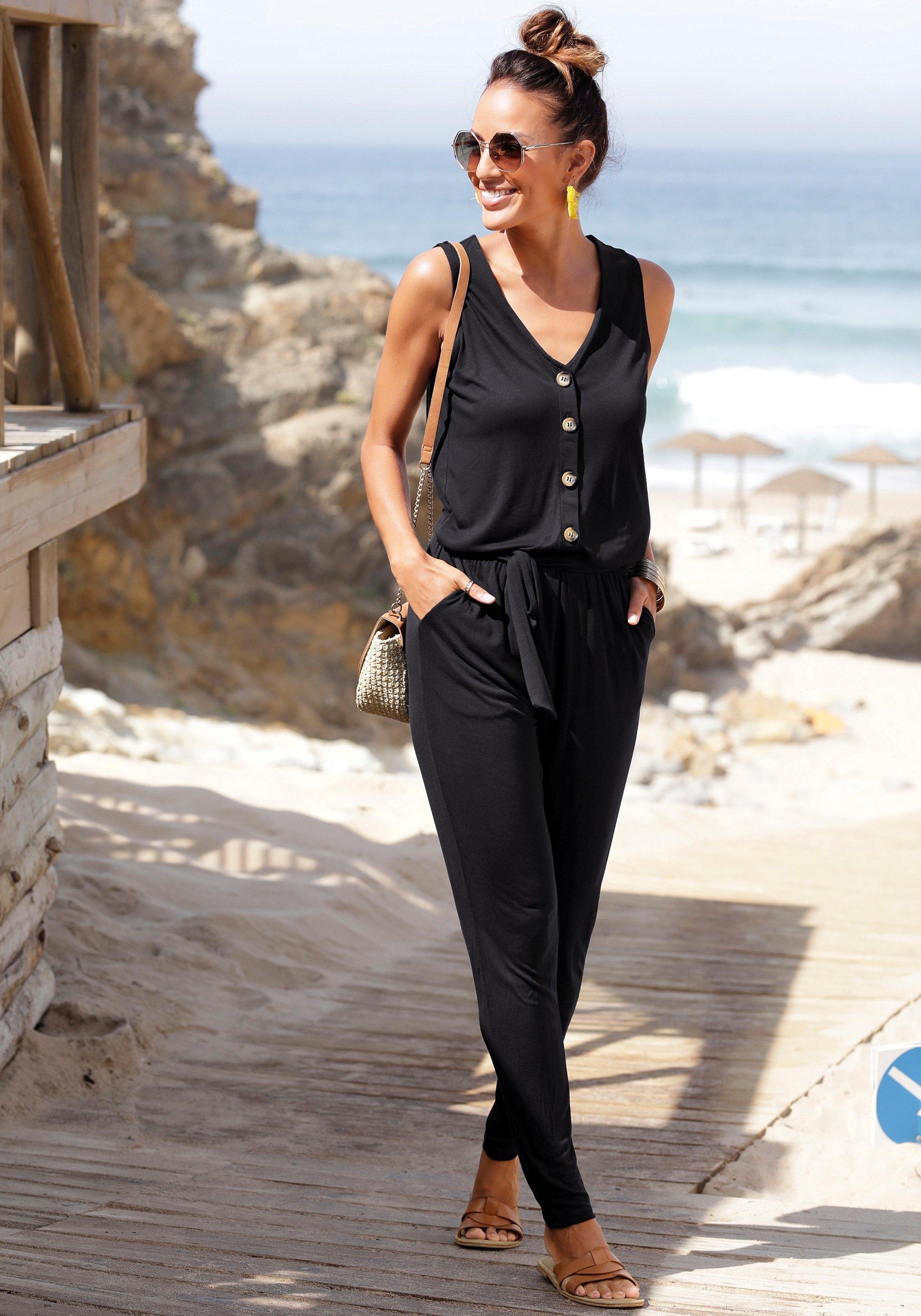 Op zoek naar een Lascana jumpsuit (Met een bindceintuur)? Koop online bij Lascana