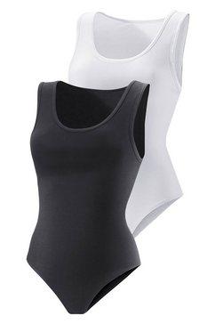 vivance active hemd-body (set van 2), katoen-stretch zwart