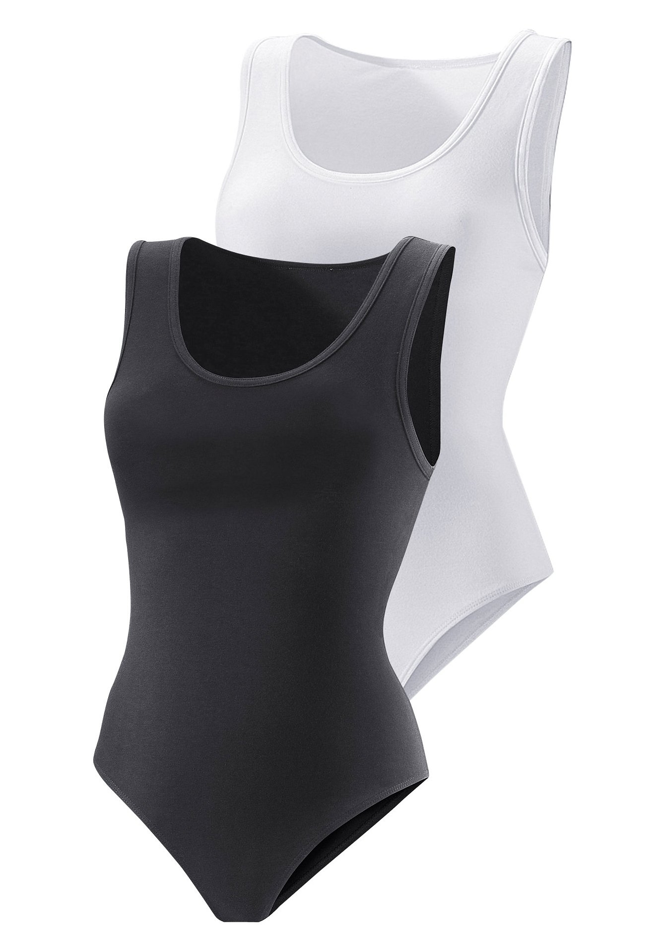 Vivance Active hemd-body (set van 2), katoen-stretch nu online kopen bij Lascana