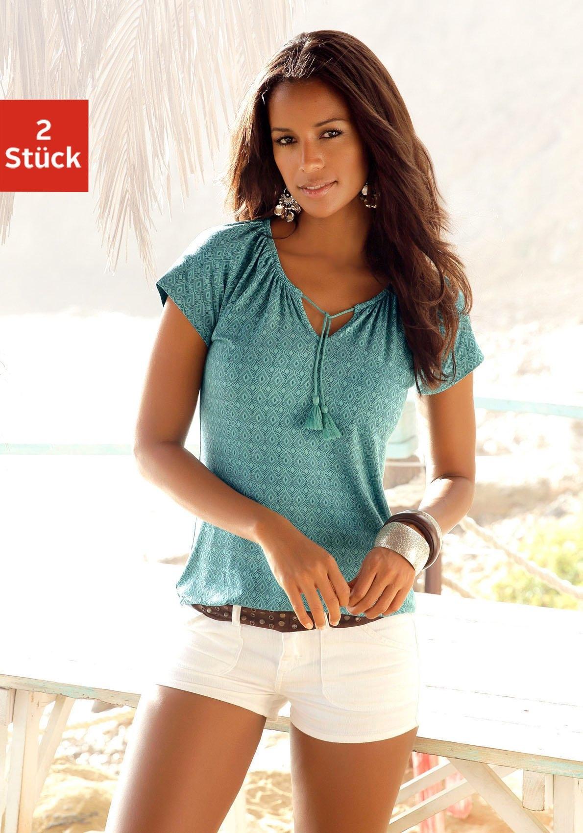 Vivance tuniekshirt (set van 2) nu online kopen bij Lascana