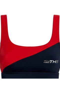 tommy hilfiger bustierbikinitop in sportief design rood