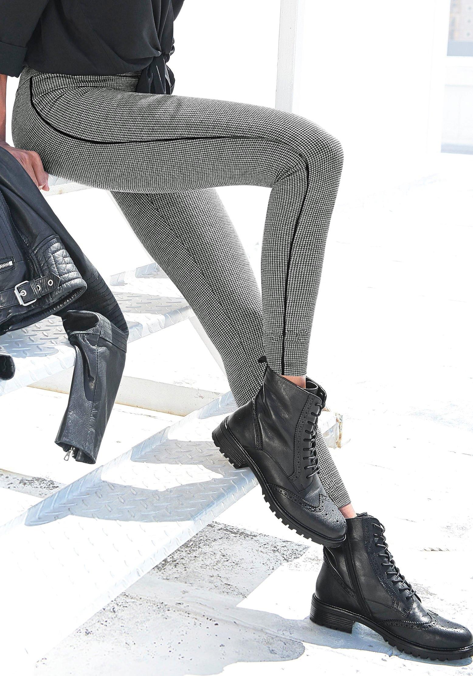 Lascana Legging met pepita motief voordelig en veilig online kopen